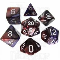 TDSO Duel Copper & Blue 7 Dice Polyset