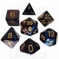 TDSO Duel Red & Blue 7 Dice Polyset
