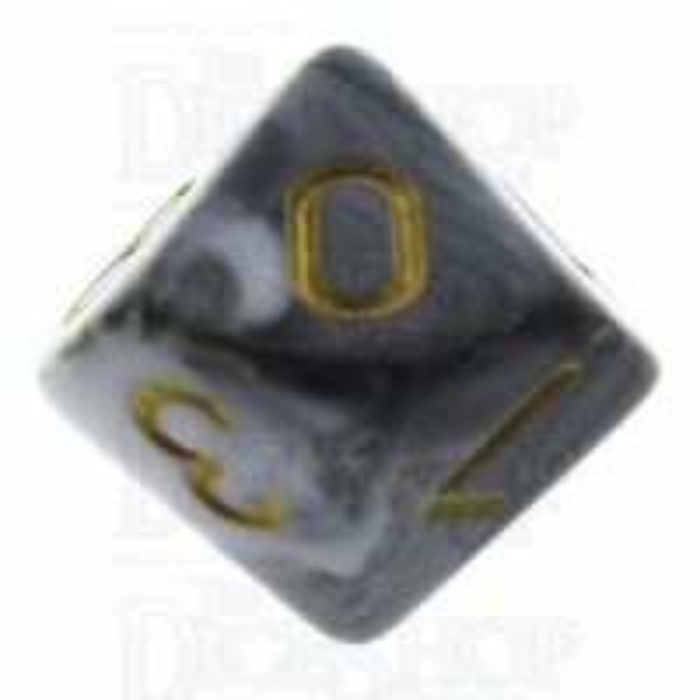 TDSO Duel Black & White D10 Dice