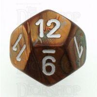 Chessex Gemini Copper & Steel D12 Dice