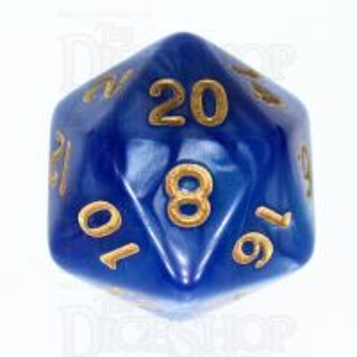 TDSO Duel Blue & Purple D20 Dice