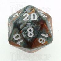 Chessex Gemini Copper & Steel D20 Dice
