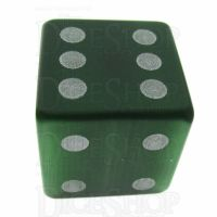 TDSO Cats Eye Dark Green with Engraved Spots 16mm Precious Gem D6 Dice