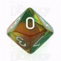 Chessex Gemini Gold & Green D10 Dice