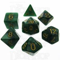 TDSO Pearl Green & Gold 7 Dice Polyset