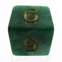 TDSO Pearl Green & Gold D6 Dice