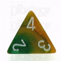 Chessex Gemini Gold & Green D4 Dice
