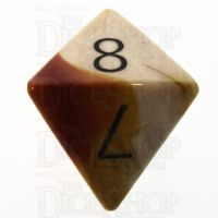 TDSO Mookaite with Engraved Numbers 16mm Precious Gem D8 Dice