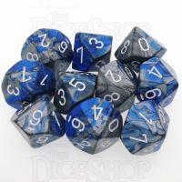 Chessex Gemini Blue & Steel 10 x D10 Dice Set