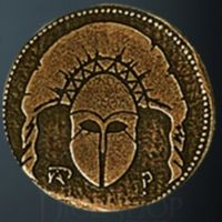 Spartan Legendary Metal Gold Coin