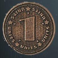 Units Legendary Metal Copper Coin