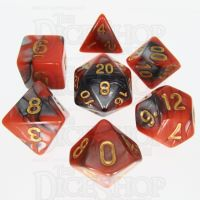 TDSO Duel Orange & Steel 7 Dice Polyset