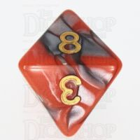 TDSO Duel Orange & Steel D8 Dice
