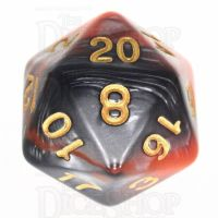 TDSO Duel Orange & Steel D20 Dice