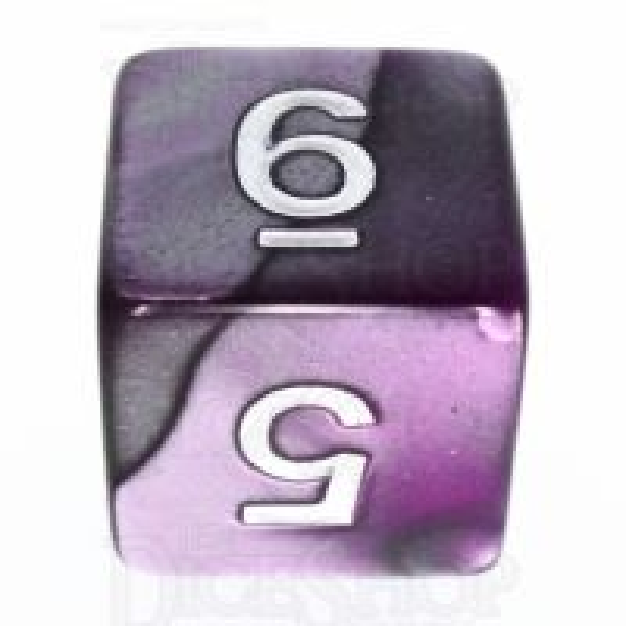 TDSO Duel Purple & Steel D6 Dice