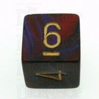 Chessex Gemini Purple & Red D6 Dice