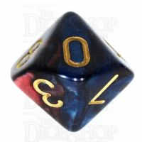 TDSO Duel Red & Blue D10 Dice