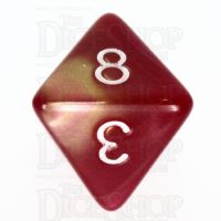 TDSO Duel Rose & Yellow D8 Dice