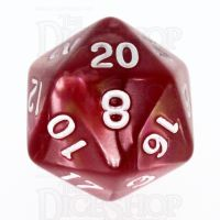 TDSO Duel Rose & Yellow D20 Dice