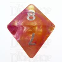 TDSO Pearl Swirl Flame D8 Dice
