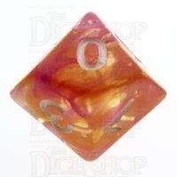 TDSO Pearl Swirl Flame D10 Dice