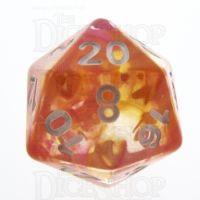TDSO Pearl Swirl Flame D20 Dice