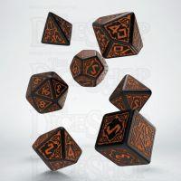 Q Workshop Pathfinder Hells Vengeance Black & Orange 7 Dice Polyset