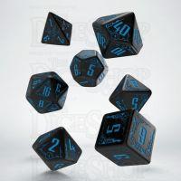 Q Workshop Galactic Black & Blue 7 Dice Polyset