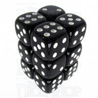 TDSO Opaque Black 12 x D6 Dice Set