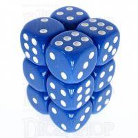 TDSO Opaque Blue 12 x D6 Dice Set