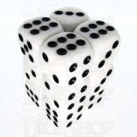 TDSO Opaque White 12 x D6 Dice Set