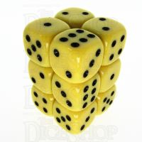 TDSO Opaque Yellow 12 x D6 Dice Set