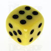 TDSO Opaque Yellow 16mm D6 Spot Dice