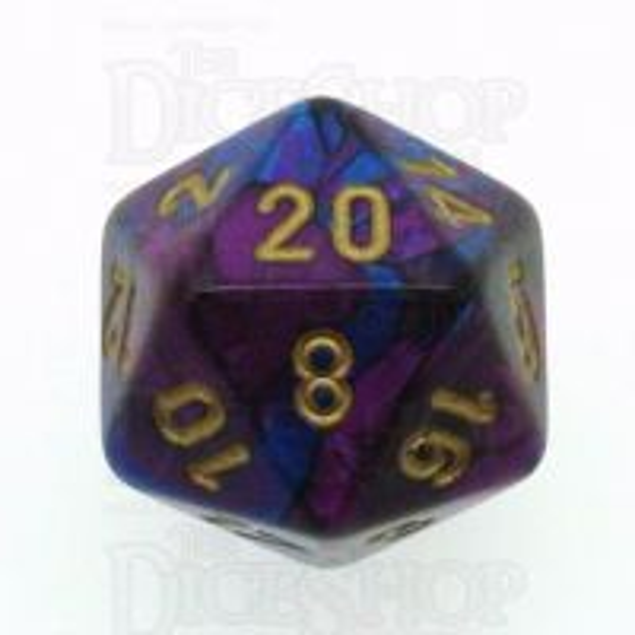Chessex Gemini Blue & Purple D20 Dice