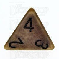 TDSO Opaque Antique Gold D4 Dice