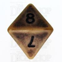 TDSO Opaque Antique Gold D8 Dice