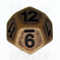 TDSO Opaque Antique Gold D12 Dice