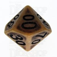 TDSO Opaque Antique Gold Percentile Dice