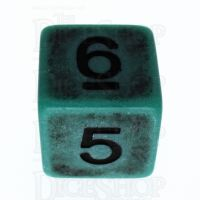 TDSO Opaque Antique Green D6 Dice