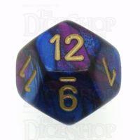 Chessex Gemini Blue & Purple D12 Dice
