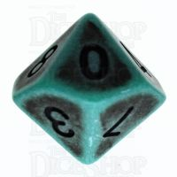 TDSO Opaque Antique Green D10 Dice