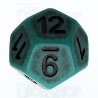 TDSO Opaque Antique Green D12 Dice