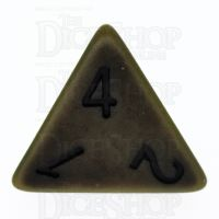 TDSO Opaque Antique Olive Green D4 Dice