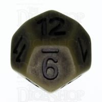 TDSO Opaque Antique Olive Green D12 Dice