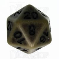 TDSO Opaque Antique Olive Green D20 Dice