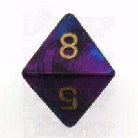 Chessex Gemini Blue & Purple D8 Dice