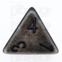 TDSO Opaque Antique Silver D4 Dice