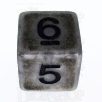 TDSO Opaque Antique Silver D6 Dice