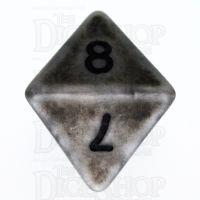 TDSO Opaque Antique Silver D8 Dice