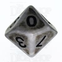 TDSO Opaque Antique Silver D10 Dice